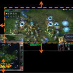 Minimap tire d&#039;un match de StarCraft II: Wings of Liberty (Blizzard Entertainment, 2010-2012) comment par Crota.