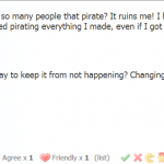 Un joueur de Game Dev Tycoon se plaint du piratage.