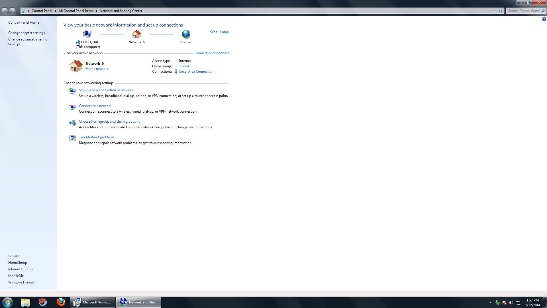 Windows 7, accès Internet non-fonctionnel même si affiché comme tel