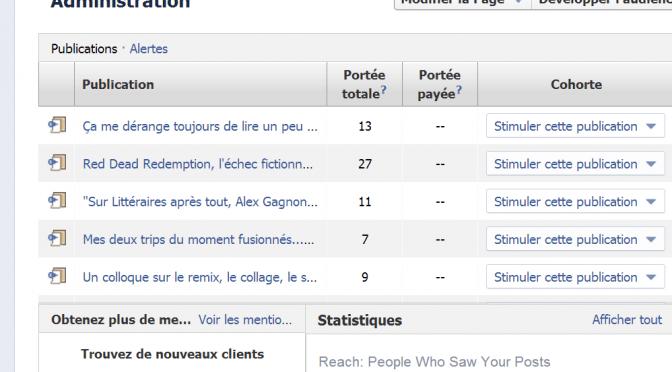 Pourquoi j'ai une page Facebook?