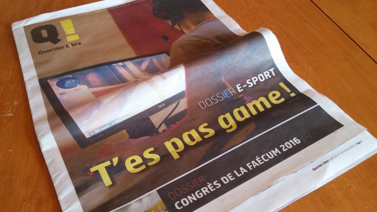 Quartier Libre parle de sport électronique à l'université