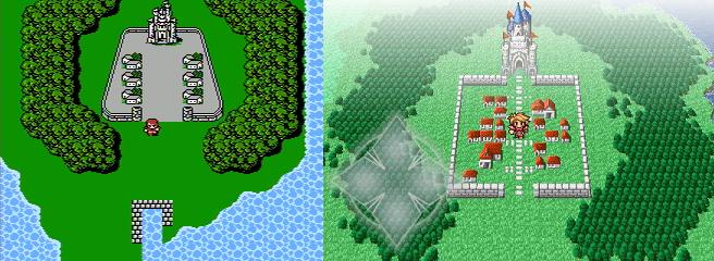 Final Fantasy - Coneria (extérieur) - comparatif