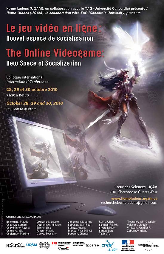 """Colloque """"Le jeu vidéo en ligne"""" (affiche)"""