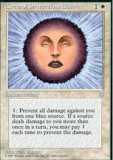 Circle of Protection : Blue (Magic : The Gathering)