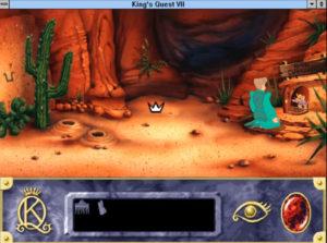 King's Quest VII (Sierra On-Line, 1994). Esthétique de la base de données
